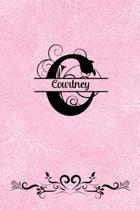 Split Letter Personalized Journal - Courtney