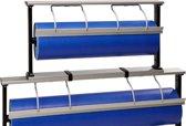 Papierrolhouder OPZETmodel tbv tafelmodel Serie 200 Alu - Toonbankrol breedte 30 (breedte rol) cm  - Glad mes voor papier -  - MTok-Op-2303