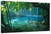 Waterval - Canvas Schilderij 80 x 60 cm
