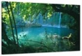 Art4-all Canvas schilderij Waterval - 80x60 cm