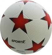 Sportx Bal Rubber Star Wit Rood