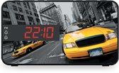 Bigben Wekkerradio LED-Display - New York Taxi - Zwart