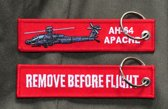 "Sleutelhanger ""Remove Before Flight & Apache"""