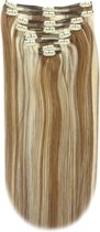 Remy Human Hair extensions Double Weft straight 20 - bruin / blond 6/613#