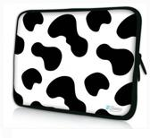 Sleevy 15,6 inch laptophoes koeienvlekken