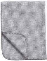 Meyco Stripy Pepita - Ledikantdeken 100x150 cm - Grijs