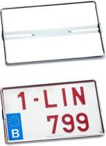 Nummerplaathouder 4X4 Chromé 340x210mm BELGIË