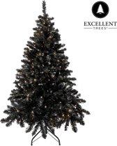 Zwarte kerstboom Excellent Trees® LED Stavanger Black 150 cm met verlichting - Luxe uitvoering - 250 Lampjes