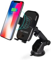 DrPhone - X10 Architect Ultimate Carkit - Luxe Autohouder Set - Automatische Infrarood Sluitmechanisme + Ventilatie houder + Dashboard Smartphone Autohouder + Fast Charge Oplader + Autolader 30W ( Draadloos QI laden )