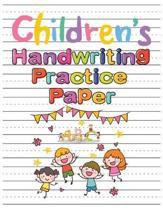 Children's Handwriting Practice Paper