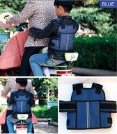 Kinderen Veiligheids Vest Riem Gordel voor fiets scooter motor BLAUW - Veiligheid - Kinderen - Veiligheidsvest - Veiligheidsriem - veiligheidsgordel - Vakantie - Fietsen - Scooters - Kinderzitje - Kinderstoel - Fietsstoel - Kinderharnas - Bescherming