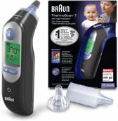 Braun ThermoScan 7 IRT 6520 Black Edition met 40 gratis extra lensfilters  - Lichaamsthermometer