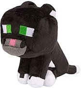 Minecraft zwarte ocelot / kat knuffel