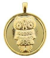2-zijdige gouden munt/hanger voor bij bijpassende ketting. Doorsnede 4 centimeter.