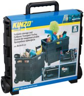Boodschappentrolley - Boodschappenkar - Boodschappenmand - Trolley - Opbergkrat - Vouwkrat - Opvouwbaar - 25kg - Zwart