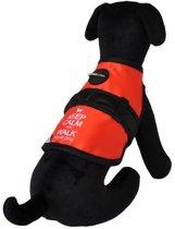 Hondenjas avant garde keep calm rood / zwart 20-25 cm