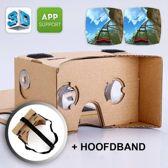 Google Cardboard + Hoofdband | Virtual reality bril