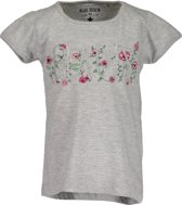 Blue Seven Meisjes Shirt Grijs met pailletten - Maat 98