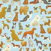 Toonbankrol.nl - Cadeaupapier op rol - Honden - Rol 70cm - 150m - 80gr