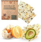 Bijenwas doek - 3-pack - Bees wrap - Bijen en honingraat print
