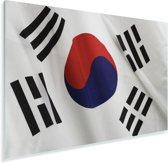Close-up van de vlag van Zuid-Korea Plexiglas 90x60 cm - Foto print op Glas (Plexiglas wanddecoratie)