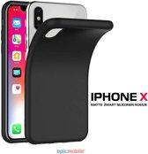 iPhone X zwart siliconen hoesje – TPU silicone - matte zwart
