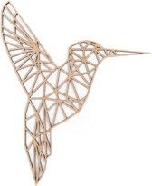Kolibrie - Geometrisch - 59x49 cm - Dieren - Wanddecoratie