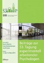 Beiträge zur 53. Tagung experimentell arbeitender Psychologen