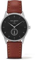 Paul Hewitt Signature Line - Horloge - Leer - Bruin - 38mm