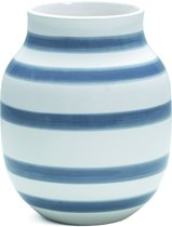 Kähler Design Omaggio Vaas - Hoogte 20 cm - Blauw/Wit