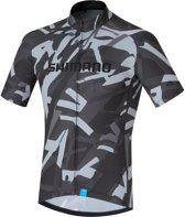 Shimano Shirt Team Fietsshirt - Maat L  - Mannen - grijs/zwart