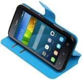 Huawei Y5 / Y560 Blauw | Cross Pattern TPU bookstyle / book case/ wallet case  | WN™
