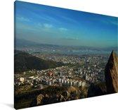 Luchtfoto van de Turkse stad Izmir in Europa Canvas 90x60 cm - Foto print op Canvas schilderij (Wanddecoratie woonkamer / slaapkamer)