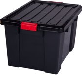 IRIS Powerbox Opbergbox - 68L - Zwart/Rood