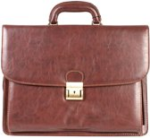 "Executive Business Flapover Briefcase - 15.6"" Laptop Business Bag - Aktentas (1507 BR)"