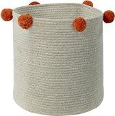 Lorena Canals - Basket Bubbly Natural-Terracota - 30 x 30 x 30 cm