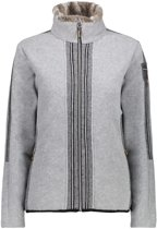 Woman Medium Fleece Jacket Grey m.