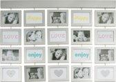 Pt, Fotolijst Memory Lane - Zilver - Fotomaat 10x15 cm