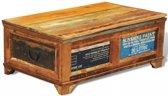 vidaXL Salontafel met opslagruimte vintage-stijl gerecycled hout