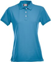 Premium dames polo turquoise m