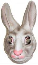 Plastic konijnen masker voor volwassenen - dieren gezichtsmasker