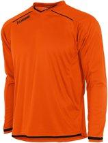 Hummel Leeds Sportshirt performance - Maat 140  - Unisex - oranje/zwart