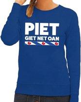 Blauwe trui / sweater Friesland Piet Giet Net Oan dames 2XL
