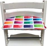 Geplastificeerd zitkussen voor de Tripp Trapp kinderstoel van Stokke - Colors