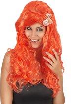 """""""Lange oranje pruik voor vrouwen - Verkleedpruik - One size"""""""