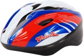 Volare Fiets-Skatehelm Deluxe Rood Blauw Wit