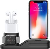 Sneed ® 4 in 1 Oplaadstation - Geschikt voor Apple IPhone / Airpods / Apple Watch / Apple Pencil - Charging Dock - Charging Base - Siliconen - Milieuvriendelijk - Multi-functioneel - Draadloze oortjes - iWatch - Zwart