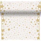 Duni Kerst placemats - creme wit/goud sterren - 40 x 480 cm