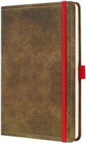 notitieboek Sigel Conceptum 194blz hard Vintage Brown 135x203mm gelinieerd