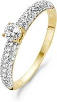 Blush Ring 1146BZI -  Geel en Wit Goud (14Krt.) met Zirconia